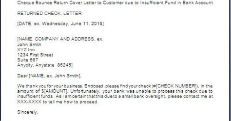 letter  bounced cheque return  party