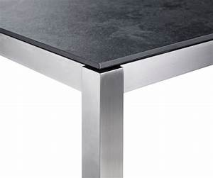Tisch Mit Keramikplatte : solpuri classic edelstahl tisch 100x100x75cm mit keramik tischplatte kunsthandel ~ Eleganceandgraceweddings.com Haus und Dekorationen