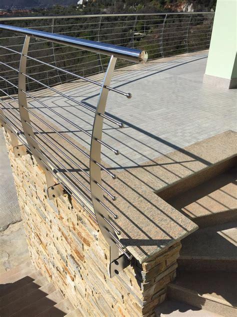 terrazzi con ringhiera parapetto esterno ringhiera dei terrazzi in acciaio inox