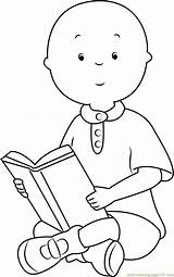 Caillou Coloring Pages Reading Printable Print Cartoon Game Sponsored Links Categories Getcolorings Coloringpages101 sketch template