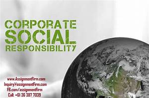 Corporate Social Responsibility Assignment Sample - The ...