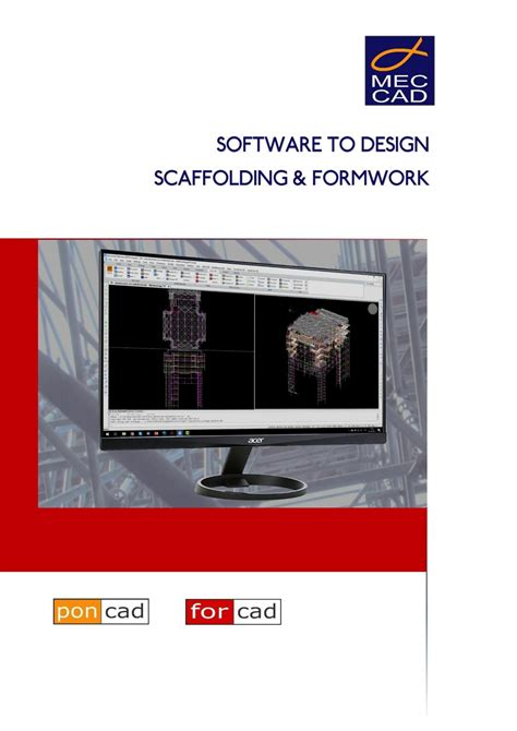 Mec Cad Scaffolding Formwork Design Software By Mec Cad