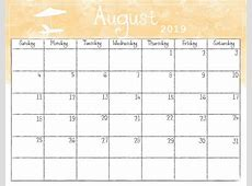 Watercolor Monthly 2019 Calendar Latest Calendar