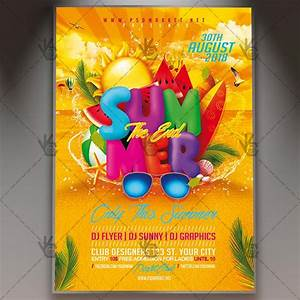Tourism Flyer Template The End Of Summer Party Seasonal Flyer Psd Template
