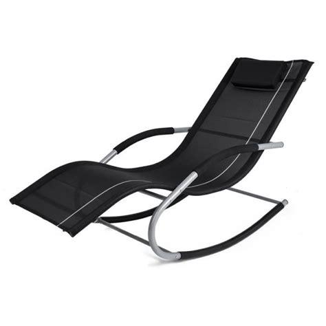 chaise à bascule pas cher chaise longue transat a bascule achat vente chaise