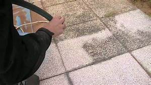 decapage dalles terrasse aero bio tech youtube With comment faire une dalle beton pour terrasse