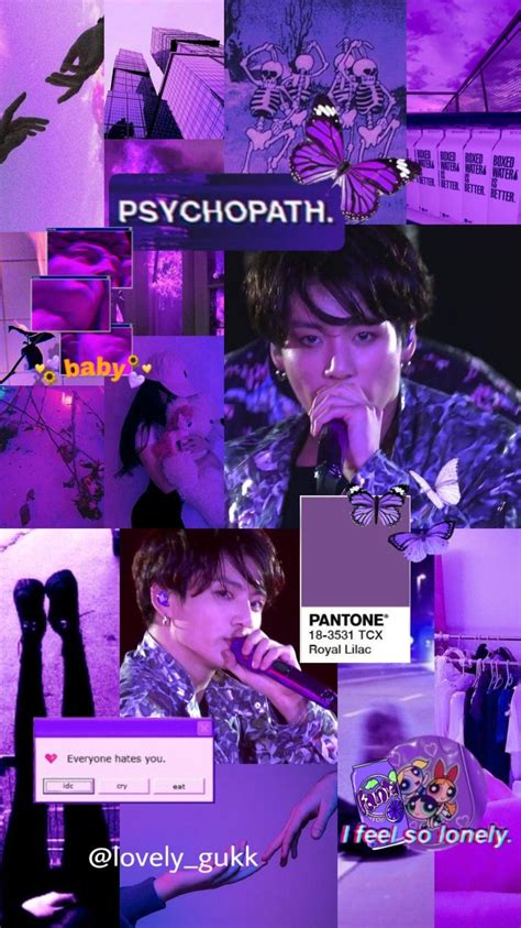 bts aesthetic purple wallpaper with images purple