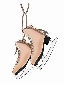 A Pair of Ice Skates stock illustration. Image of hobby ...