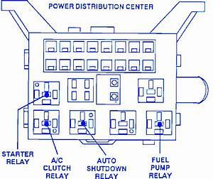 Dodge Z06 2004 Distribution Fuse Box  Block Circuit Breaker