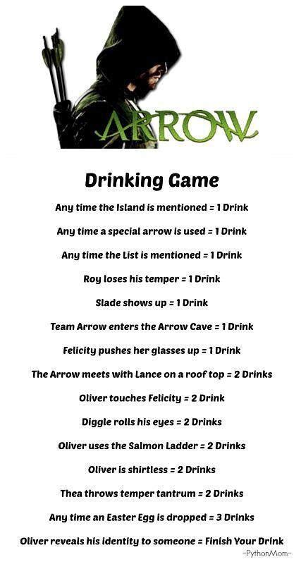 Drinking Game Memes - 10 best images about arrow memes on pinterest mondays dean o gorman and arrow memes