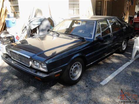 Maserati Quattroporte Parts by Maserati Quattroporte 1984 For Parts Or Restoration