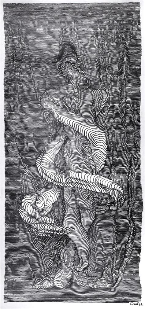 incredible scroll drawings created   moving car