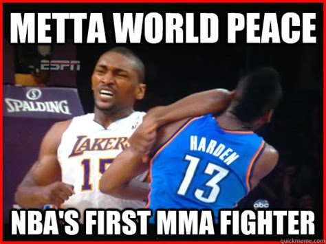 Mma Meme - metta world peace nba s first mma fighter metta world peace quickmeme