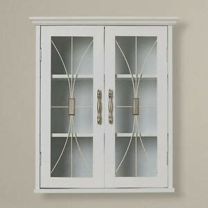 Wall Mounted Storage Cabinets With Glass Doors by White Glass Door Wall Surface Mounted Cabinet Home