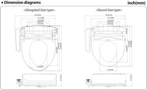 Clean Sense Bidet by Clean Sense Electric Bidet Toilet Seat Models Dib 1500r
