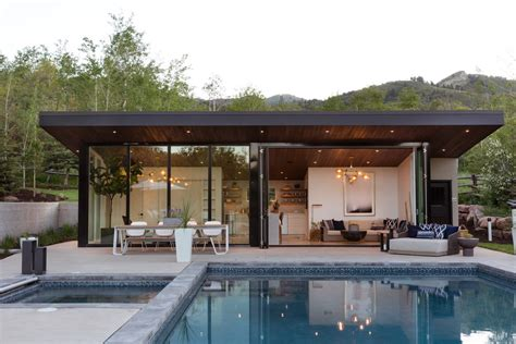 This Can-do Pool House Cleverly Goes From Private To Party