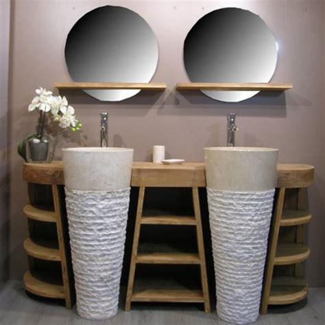 totem salle de bain vente privee ensemble meuble et vasque florence batiwiz