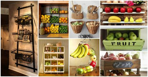 kitchen fruit storage 20 adorable fruits storage solutions for your kitchen 1745