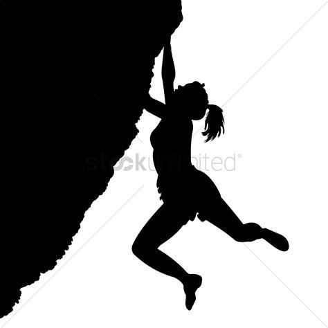 Woman Climbing On Mountain Vector Image 1822427