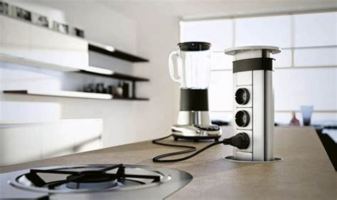 Moderne Küche Domus Steckdosen Küchengeräte Kochinsel