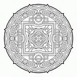 Coloring Geometric Pages Geometry Sacred Cool Mandala Fractal Therapy Complex Colouring Adult Mandalas Para Books Beaver Colorear Pattern Sheets Printable sketch template