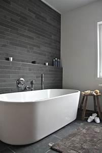 idee decoration salle de bain salle de bains grise un With decoration mur salle de bain