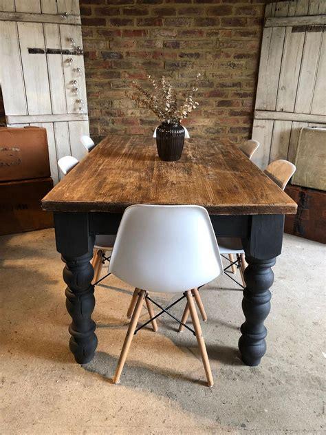 rustic  farmhouse table  annie sloan custom mix