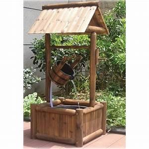 Wooden Garden Wishing Well Fountain www kotulas com