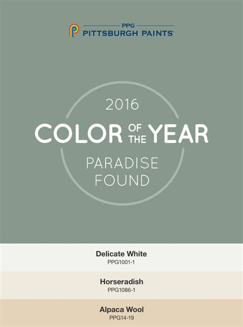 13 best 2016 paint color of the year paradise found