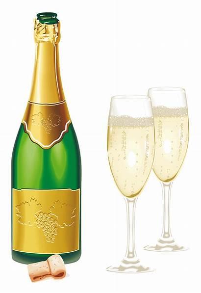 Champagne Wine Glasses Open Bottle Clip Clipart