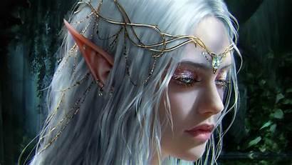 Elf Fantasy Woman Wallpapers Face Artwork Ears