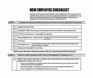 sample new hire checklist template 11 documents in pdf With employee onboarding documents