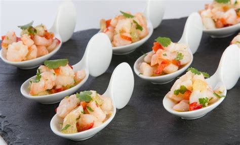 canape cina gambas lime and chilli spoon canapés gluten free