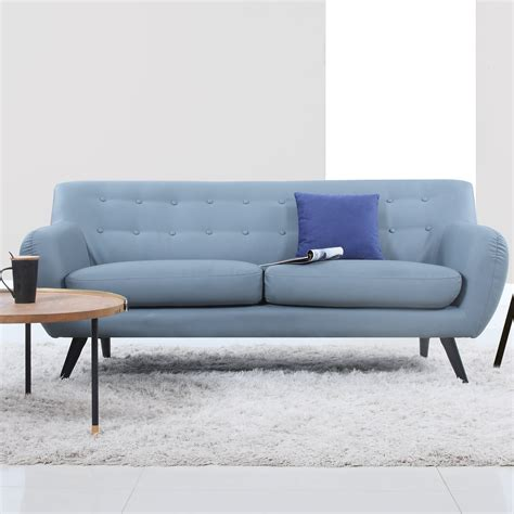 mid century modern tufted sofa reviews allmodern