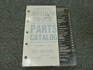 2000 Ford F650 F750 Super Duty Truck Factory Parts Catalog