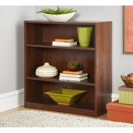 Bookcases At Walmart by Mainstays 3 Shelf Bookcase In Alder Color Walmart