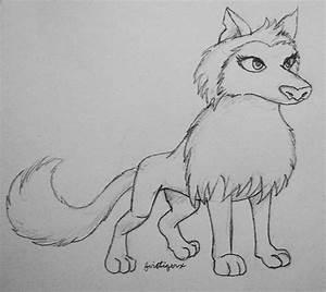 Arctic Wolf Drawing Aj