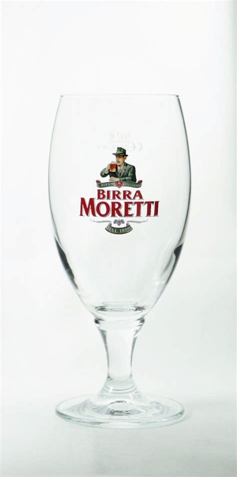 Birra Moretti beer glass 40 cl   Italy   Beer glasses
