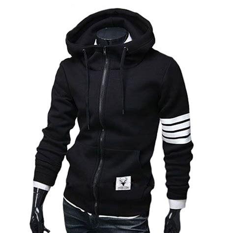 2015 New Menu0026#39;s Hoodies Sweatshirt Casual Male Hooded Jacket Long Sleeve Slim Design Mens Zipper ...