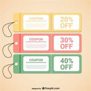 Discount coupons templates Vector   Free Download