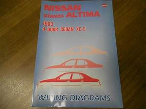 1993 Nissan Stanza Altima Service Repair Shop Manual