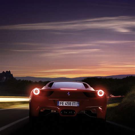 Running Ferrari 458 -ipad Wallpaper For Iphone X, 8, 7, 6