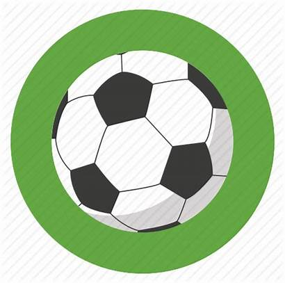 Sports Round Icon Football Soccer Ball Sport