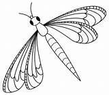 Dragonfly Coloring Pages Printable Clip Dragonflies Clipart sketch template