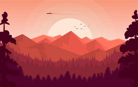 vector landscape illustration   vectors