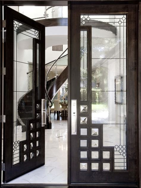 modern entry design pictures remodel decor  ideas