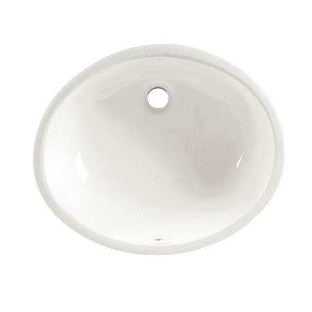 american standard  white ovalyn  undermount