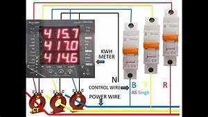 Kwh Meter Wiring Diagram  Three Phase Kwh Meter Wiring