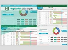 Excel Template Project Plan calendar monthly printable