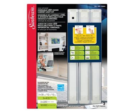 sunbeam 12 quot dimmable ultra slim led cabinet light kit 3